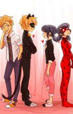Amor  Disparejo  ( marinette y adrien ladybug y chatnoir) :3 by AlondraDelaTorre808