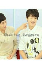 Staring daggers (MyungYeol) by snowflake-ms