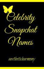 Celebrity Snapchat Names by aestheticharmony
