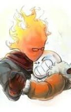 Sansby (Sans X Grillby)  by _-Error_Sans-_