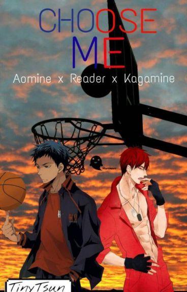 Aomine x Reader x Kagami
