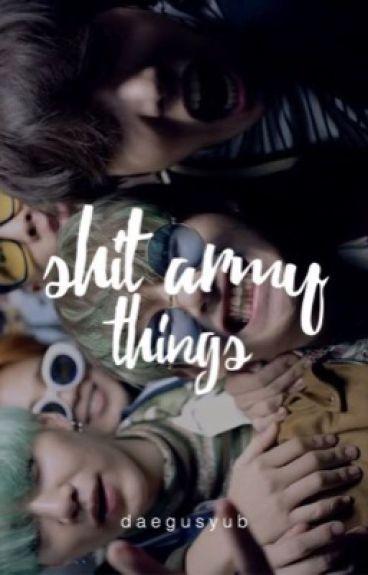 shit army things