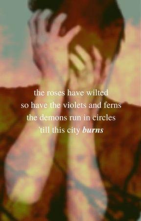 burning roses by PrincessWriter123