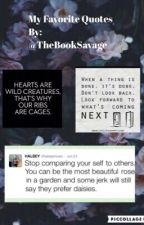 My Favorite Quotes  by TheBookSavage