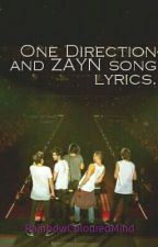 One Direction + ZAYN Lyrics by RainbowColouredMind