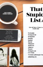 That Stupid List (A Seventeen Fanfic) by NueNeen