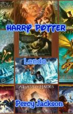 Harry Potter lendo Percy Jackson by ingridalves_