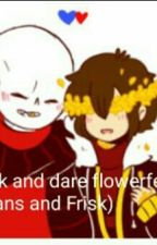 Ask And Dare Flowerfell (Sans And Frisk) by FriskFlowerfell