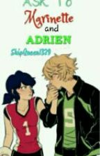 Ask To Marinette and Adrien  by bluereiz