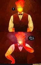 Pyromaniac Reader X Grillby by River-chan