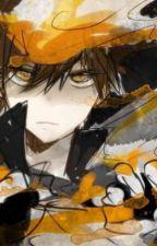 Stuck with Orange Eyes by NightofFrost