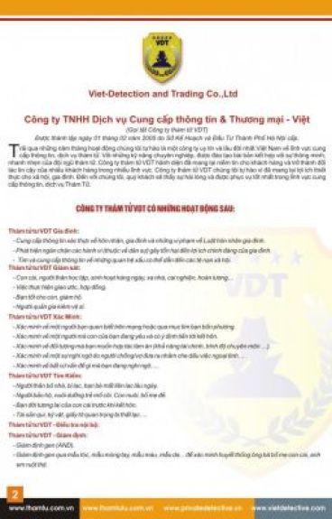 Văn phòng thám tử tại Hà Nội thamtu.com.vn
