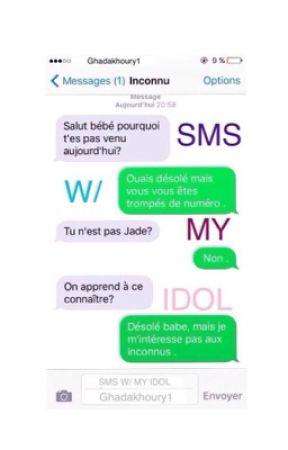 SMS W/MY IDOL by ghadabieber