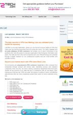 Get quality sales leads and begin marketing with VPN Customers Mailing List by list2techtechnology
