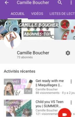 CAMILLE BOUCHER YOUTUBE  by Boucher989