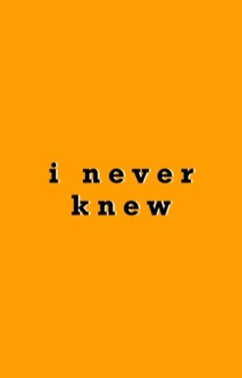 I Never Knew | Soonhoon Fanfic