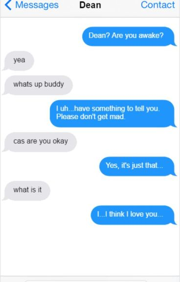 new message ((destiel texts))