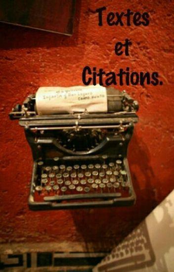 Textes~Citations
