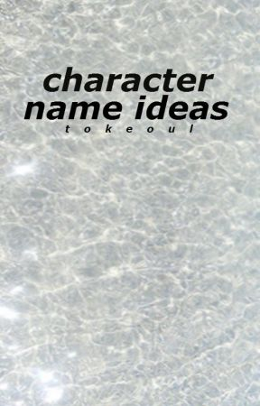 Character Name Ideas
