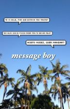 message boy; t. caniff  by errortronnor
