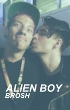 Alien Boy // Brosh by succulentmulder