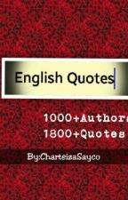 English Quotes by CharteizaSayco