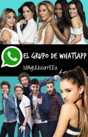 El grupo de whatsapp (one harmony y ariana grande)
