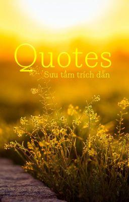 Quotes - Sưu tầm trích dẫn
