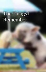 The Things I Remember by louiseeejustineee