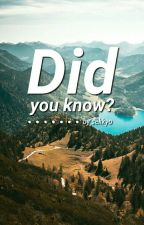 Did you know? by Sekkyo