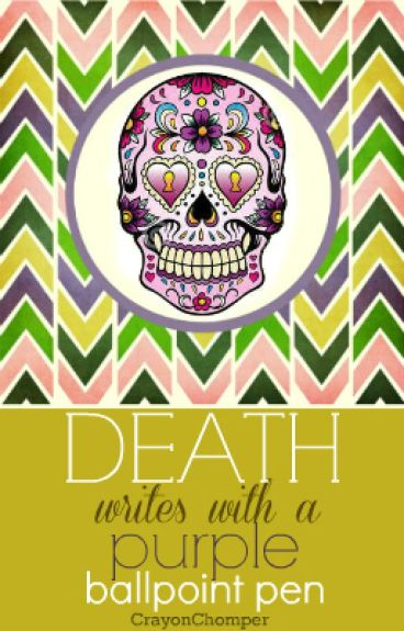 Death writes with a Purple Ballpoint Pen by CrayonChomper