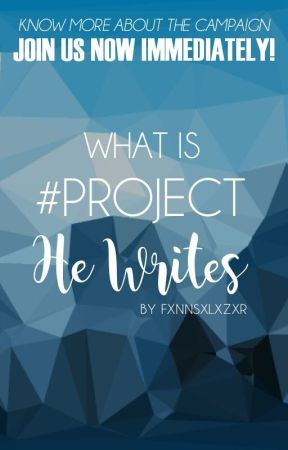 What Is #ProjectHeWrites by ProjectHeWrites