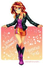 mlp reader x sunset shimmer squeal by TheForgottenNight