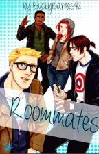 Roommates (Steve, Bucky, Natasha, and Sam) by BuckyBarnes42
