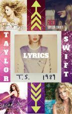 Taylor Swift Lyrics✔️ by jagijongin