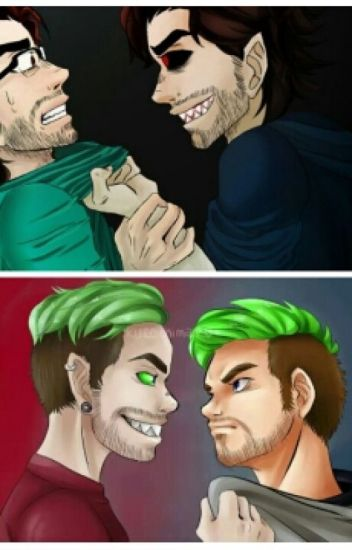 She's my kitten (Antisepticeye x Reader x Darkiplier)