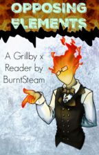 Opposing Elements (Grillby x Ice Monster! Reader) by BurntSteam