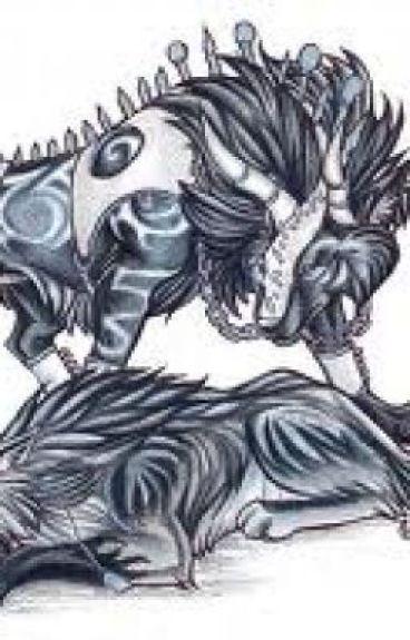 Battle between Demon Wolves