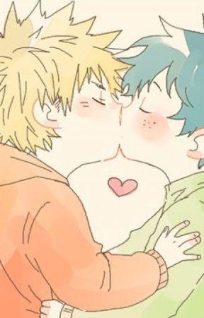 El primer beso de Kacchan y Deku   by Rensu8