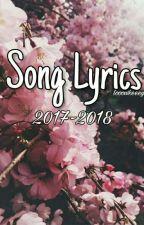 SONG LYRICS 2016-2017 by looowkeeey