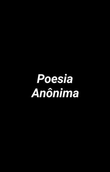 Poesia Anônima