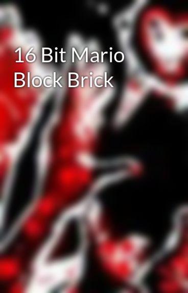 16 Bit Mario Block Brick by vamperious
