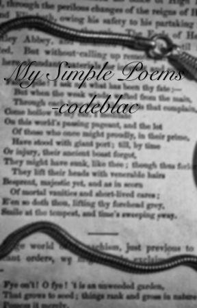 Simple poems by codeblac