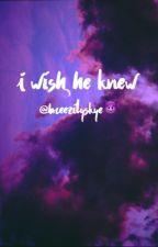 I wish he knew; Jian  by littycity