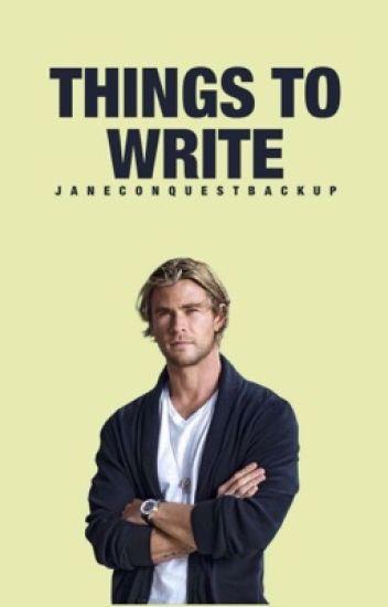 Things to Write