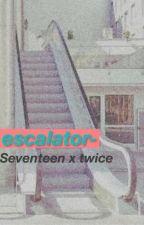 escalator ; mingyu x mina x wonwoo by craylucir