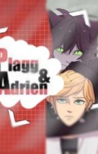Adrien & plagg (plaggXmarinette) by kittensunrise