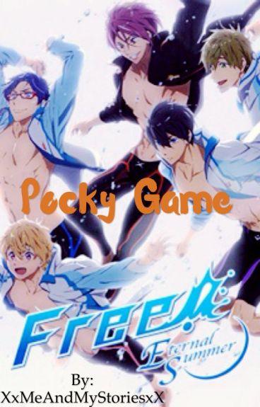Pocky Game - Free! x reader