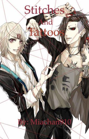 Stitches and Tattoos (Uta X reader X Juuzou)