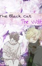 The Black Cat and The Wolf by SpaceBoyAesthetic